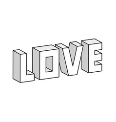 love 3d vector image vector image