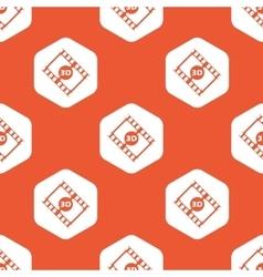 Orange hexagon 3d movie pattern vector