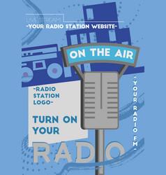 Radio poster template vector