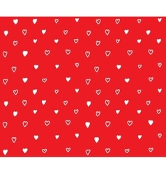 Red hearts seamless pattern with love vector image vector image