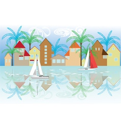 seafront vector image vector image