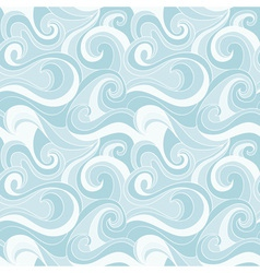 Seamless sea waves beautiful cartoon pattern vector image