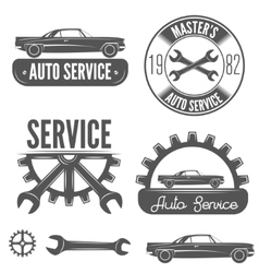 Set of badge emblem and label element for vector image