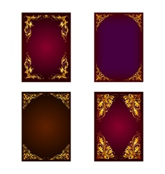 set of invitation card vector image vector image