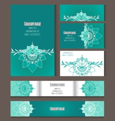 Set of templates for corporate style in vector