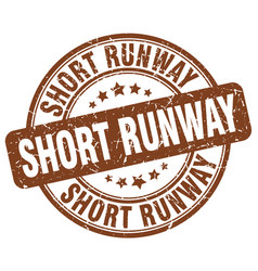 short runway brown grunge stamp vector image