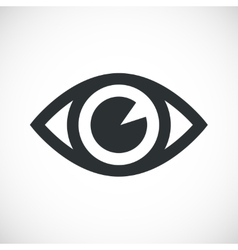 Simple eye icon vector