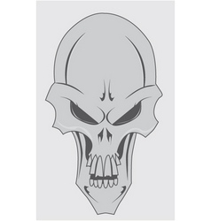 skull with jaw vector image