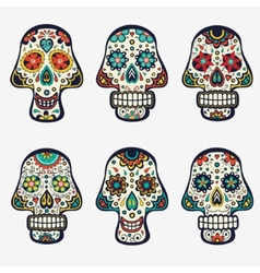 Sugar skulls collection vector