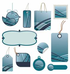 tag set vector image vector image