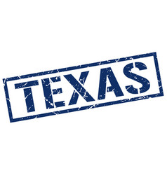 Texas blue square stamp vector