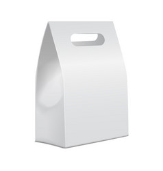 White 3d model cardboard take away food box mock vector