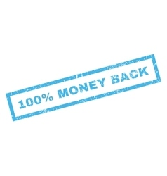 100 percent money back rubber stamp vector
