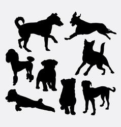 Dog pet animal silhouette 20 vector image