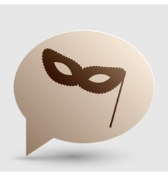 Traditional venetian carnival decorative mask sign vector