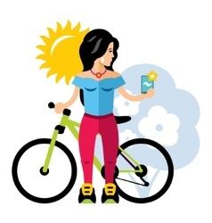 Selfie Girl Flat style colorful Cartoon vector image