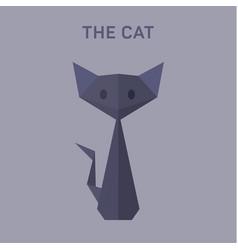 cat animals origami flat low vector image