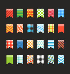 Different color flags collection vector