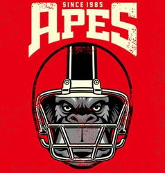 Vintage ape football player vector