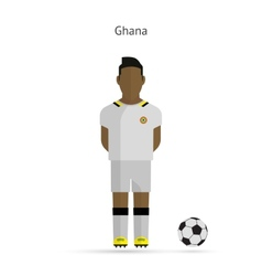National football player ghana soccer team uniform vector