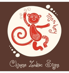 Monkey chinese zodiac sign vector