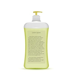 Liquid soap bottle vector