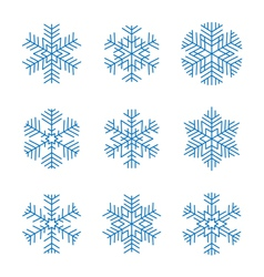Graphic design snowflakes set vector