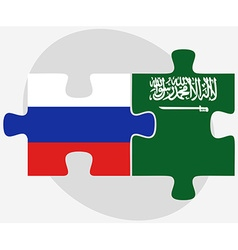 Russian federation and saudi arabia flags in vector