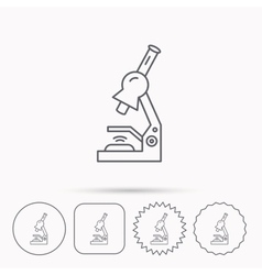 Microscope icon medical laboratory equipment vector