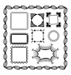set of graphic frames vector image