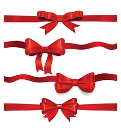 Shiny red ribbon on white background vector