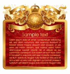 Gold musical frame vector