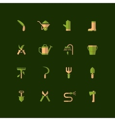 icons of garden tools vector image