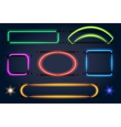 Neon light frames vector
