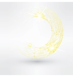 Abstract background with yellow swirl vector