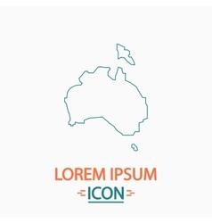 Australia computer symbol vector