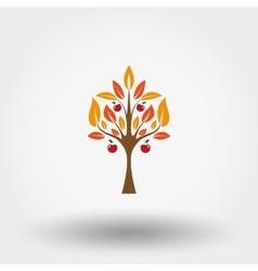 Autumn apple tree vector image