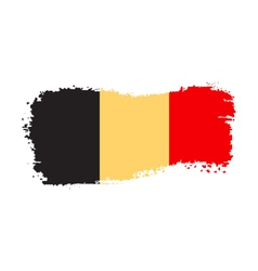 Belgium flag on a white background vector image vector image