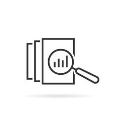 black thin line assessment logo vector image