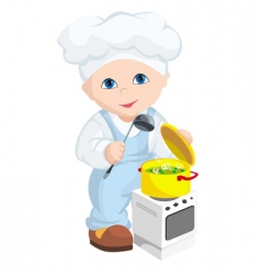 child cook vector image vector image