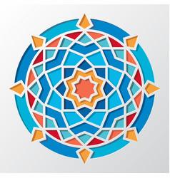 Contemporary arabic geometric round pattern vector