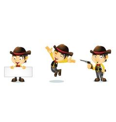 Cowboy 1 vector image vector image