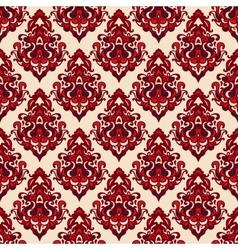 Damask seamless pattern oriental motif vector