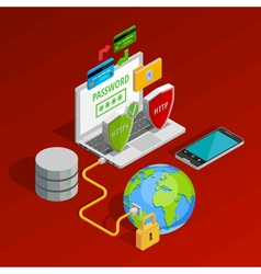 Data Protection Concept Composition vector image