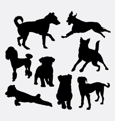 Dog pet animal silhouette 20 vector image vector image