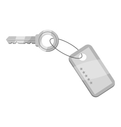 Hotel key icon gray monochrome style vector
