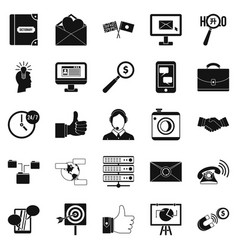Interplay icons set simple style vector