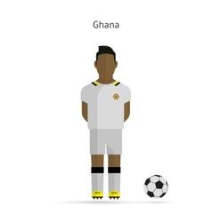 National football player ghana soccer team uniform vector