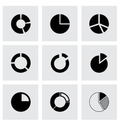 Pie chart icon set vector