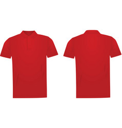 Red polo t shirt vector
